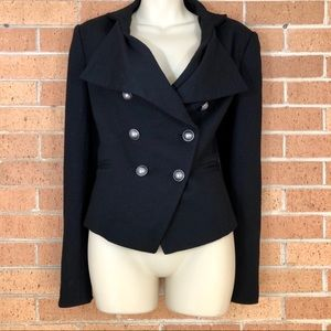 Ann Taylor wool Blazer size 6 Black military